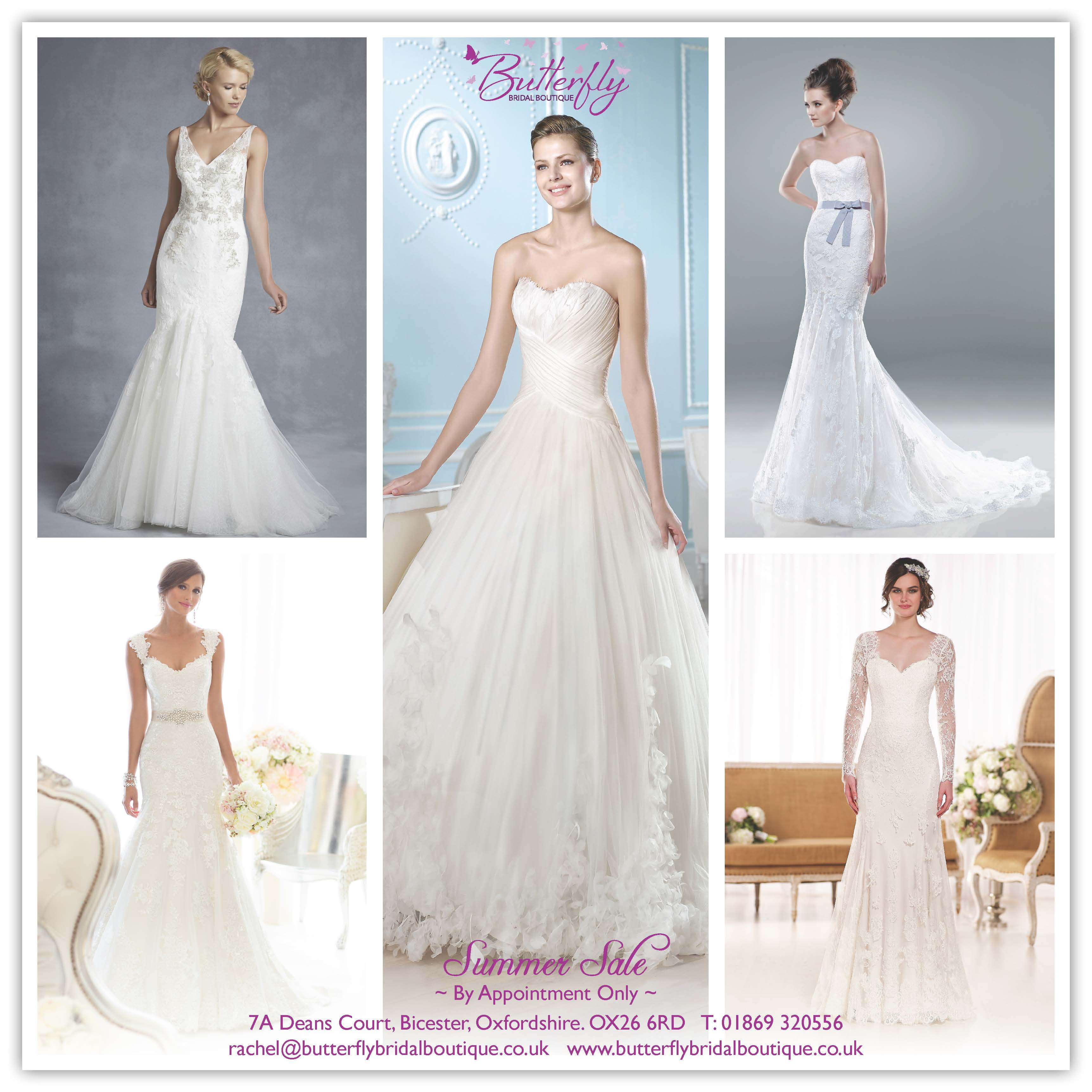Summer Wedding Dress Sale - 01st-09th August - Butterfly Bridal Boutique