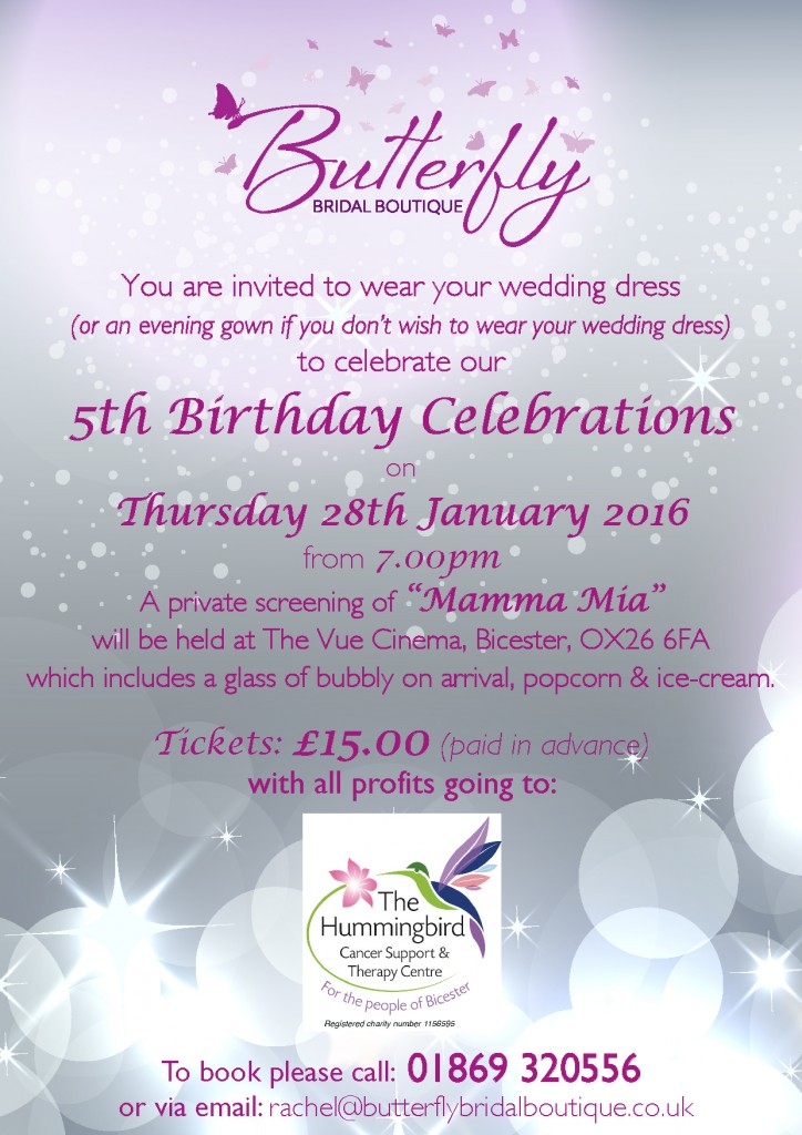 Butterfly Bridal Boutique's 5th Birthday Celebrations